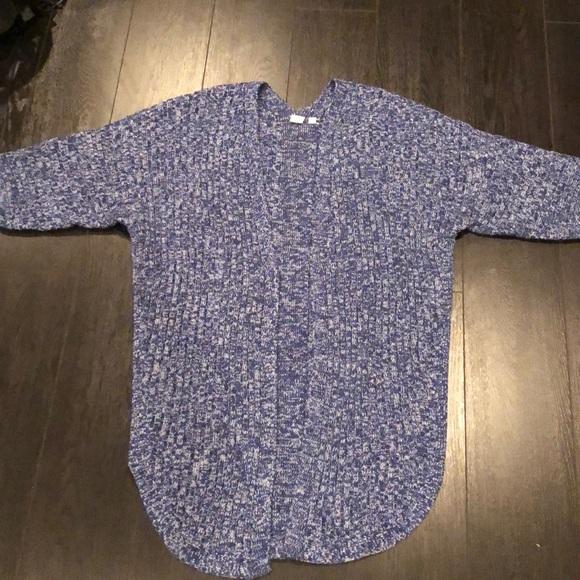 GAP Sweaters - Awesome blue marled shrug sweater